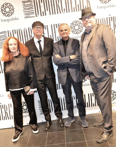Per Broman, Grace Coddington, Mia och Patrick Demarchelier och Jan Broman