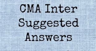 CMA Inter Suggested Answers From December 2016 to June 2015