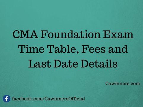 How to Apply For CMA Foundation Exam Dec 2015