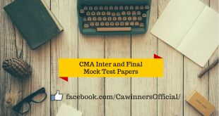 Download CMA Mock Test Papers For June 2017 ICWAI Inter and Final