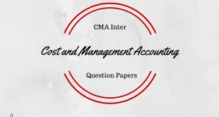 CMA Inter Cost and Management Accounting Question Paper
