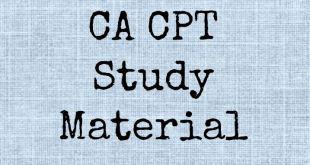 CPT Study Material June 2018