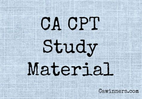 CPT Study Material