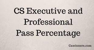 CS Pass Percentage June 2017 Executive Professional