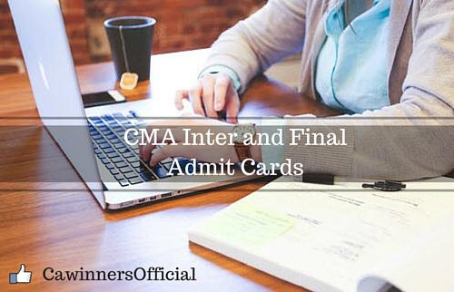 ICWAI Admit Card June 2016 CMA Inter Final