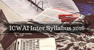 ICWAI Inter Syllabus 2016 CMA Executive Course