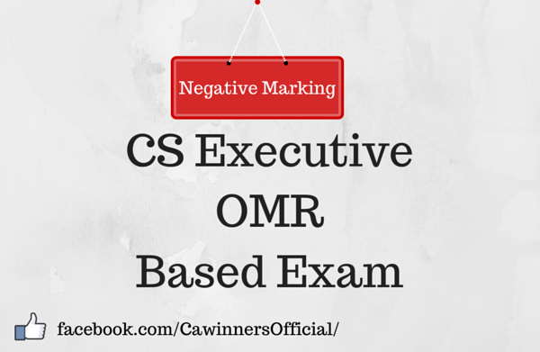 Negative Marking in CS Executive OMR Based Exam