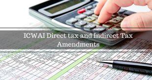 ICWAI Tax Amendments For Dec 2016