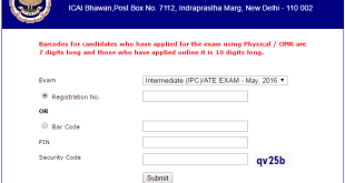 IPCC Admit Card May 2017