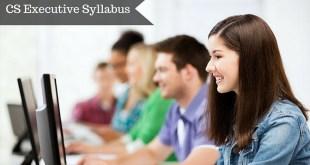 CS Executive Syllabus For Dec 2016 Download PDF
