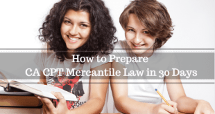 How to Prepare CA CPT Mercantile Law in 30 Days