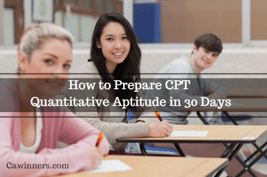How to Prepare CPT Quantitative Aptitude in 30 Days