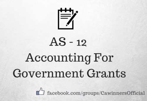 AS 12 Accounting For Government Grants Summary PDF