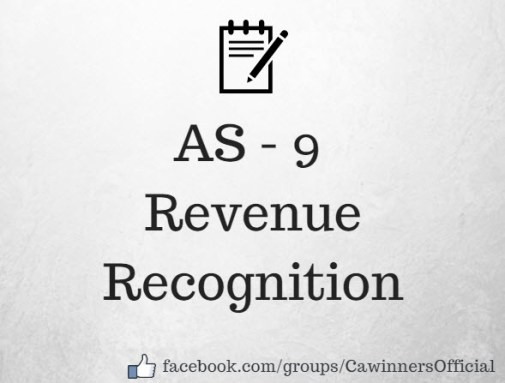 AS 9 Revenue Recognition Revised Summary Notes PDF