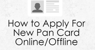 How to Apply For New Pan Card Online | Application Form