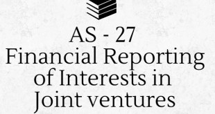 AS 27 Financial Reporting of Interests in Joint ventures