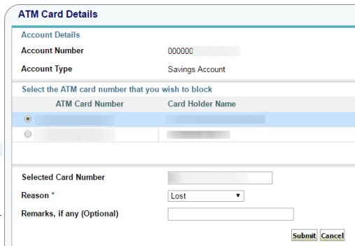 How to Block SBI Debit Card