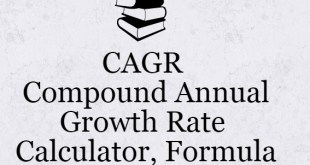 CAGR (Compound Annual Growth Rate) | Calculator, Formula