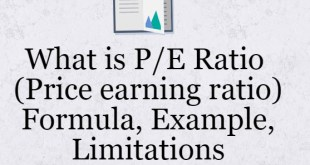 What is PE Ratio (Price earning ratio) : Formula, Example, Limitations