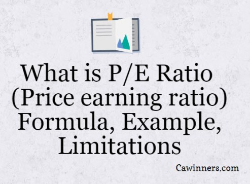 What is P/E Ratio (Price earning ratio) : Formula, Example, Limitations