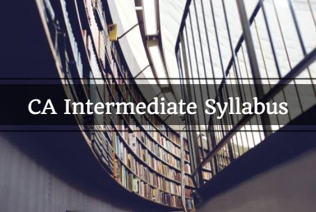 CA Intermediate Syllabus