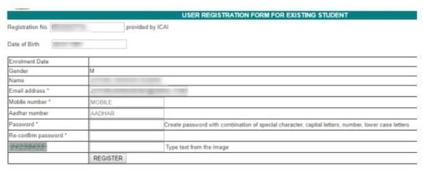 ICAI Student Details