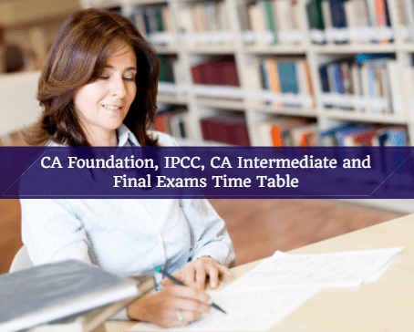 CA Foundation, IPCC, Intermediate and Final Exams Time Table For May 2018