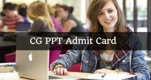 CG PPT Admit Card 2018