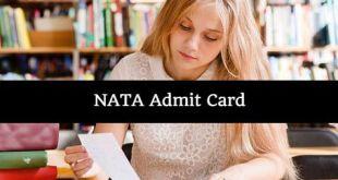 NATA Admit Card 2018