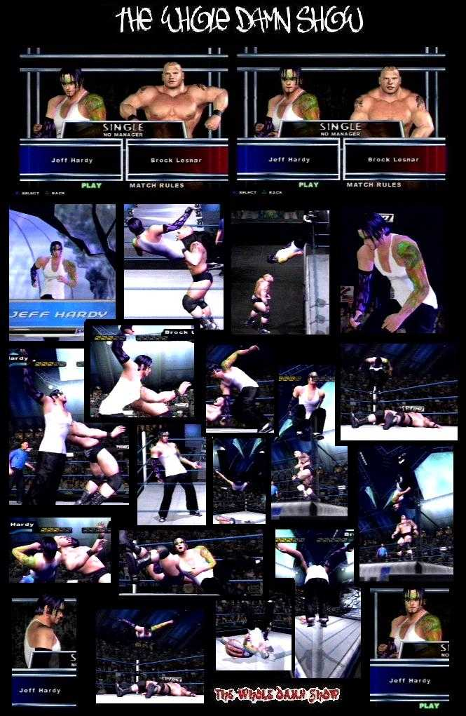 CAWsws Jeff Hardy Black Attire Green Paint CAW For