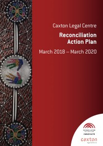 Cover of printed Reconcilition Action Plan