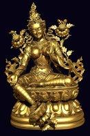 tara-statue-3d-scan-gold
