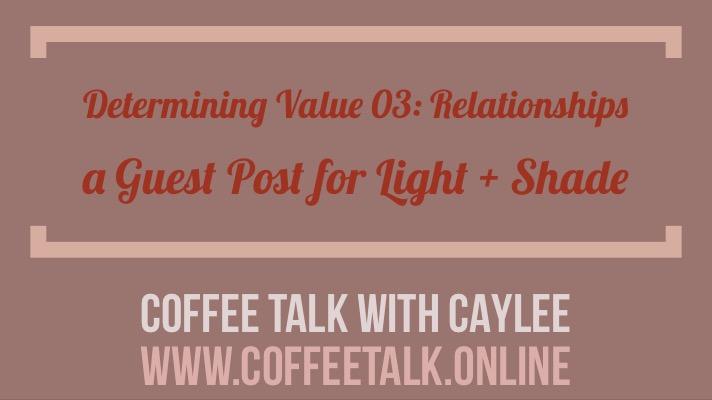 determining value- relationships
