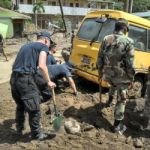UK navy support crew gets to work in Dominica