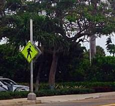 cross walk sign