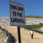 Dump turns away debris over equipment failure