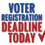 Voter deadline midnight tonight