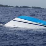 Stolen boat found capsized off Frank Sound