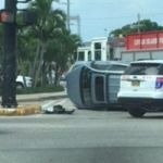 Firetruck swipes SUV at major GT junction