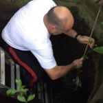 Police rescue dogs stuck down a well