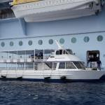 Tenders used for medivac from Oasis class ship