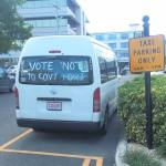 Drivers take 'no port' campaign on road