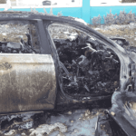 Car ignites after major crash