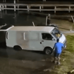 Van takes a dip pulling PWCs from sea