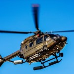 Police chopper steers two sea rescues