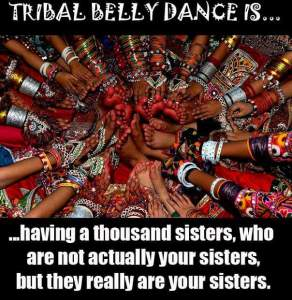...having a thousand sisters who are not actually your sisters, but they really are your sisters.