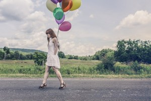 Image perceived to contain Human, People, Person, Ball, Balloon, Sphere, Aircraft, Hot Air Balloon, Transportation, Leisure Activities, Walking, Clothing, Dress, Outdoors, Road, Costume, Park, Baby, Child, Kid on the Why Someone Suffering From Depression Can't Just 'Get Over It' |  - Aurora & Denver CO page