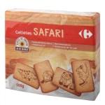 Galletas Safari Carrefour pack de 3 unidades de 200 g.