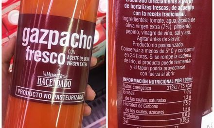 GAZPACHO 100 % NATURAL FRESCO, LA HUERTA DE HACENDADO, BOTELLA 1 l