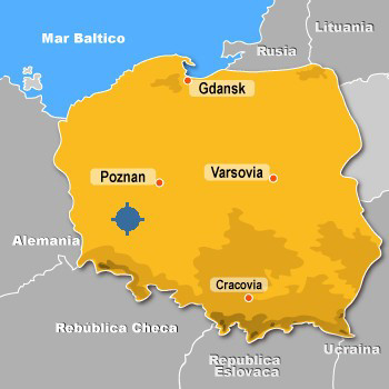 polonia map